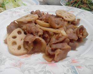 莲藕腐乳肉片