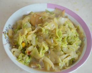 粉皮炒白菜