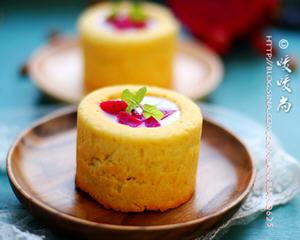 火龙果酸奶蛋糕杯