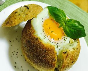 太阳蛋面包盅