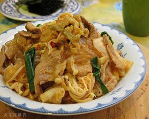 韩式泡菜炒肉片