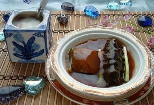 海参羊肉淡菜汤
