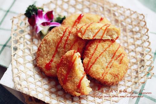 鸡胸肉可乐饼