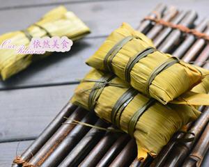 红糖蜜豆粽子