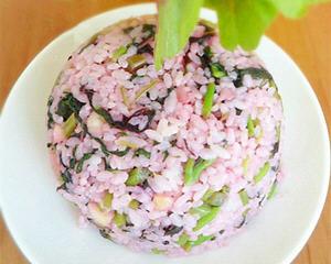 苋菜炒米饭