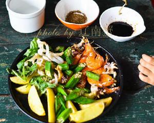 煎烤时蔬海鲜