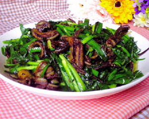 韭菜鳝鱼丝