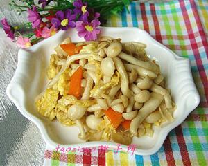 海鲜菇炒鸡蛋