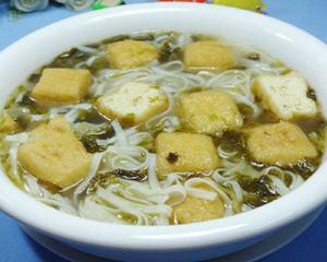 雪菜油豆腐汤面