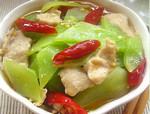 下饭菜:泡椒青笋炒肉片