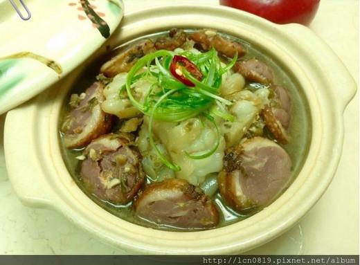 鸭肉卷梅干菜苦瓜