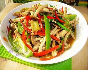 鸡肉炒海鲜菇