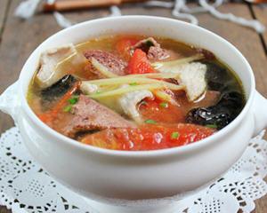 番茄肉片猪肝汤