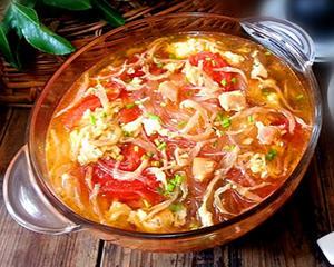 西红柿鸡蛋银鱼汤