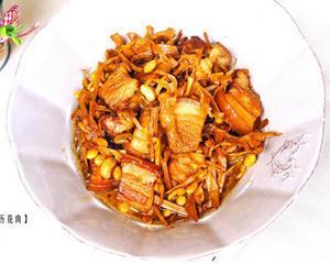 黄豆笋干焖五花肉