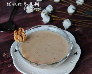 核桃红枣米糊
