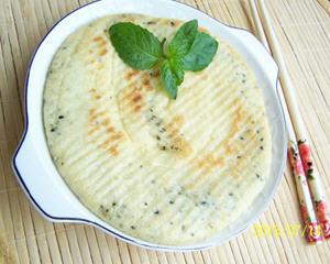 黑芝麻盐玉米发面饼