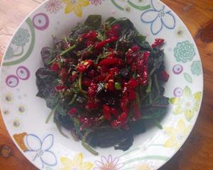 凉拌红苋菜(消暑降火)