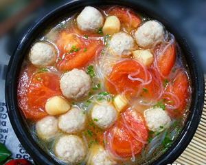 番茄鸡脯肉圆子汤