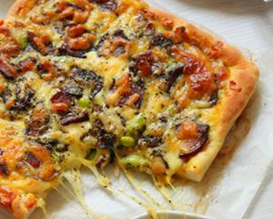 腊肉毛豆披萨