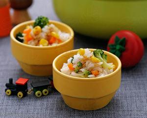 蔬菜海鲜焖饭