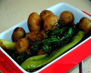 香菜青椒烀小土豆
