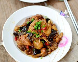 姬松茸蒸鸡肉
