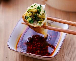 韭菜烫面蒸饺