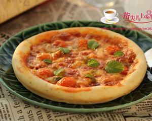 烤肉番茄披萨