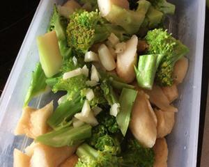 甜不辣炒花椰菜
