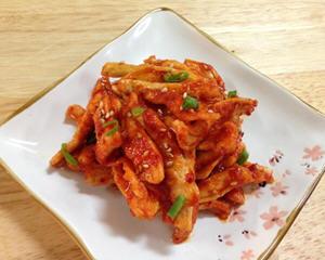 韩式凉拌萝卜干的做法_图解韩式凉拌萝卜干怎么做好吃