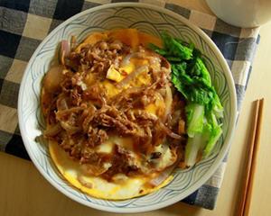 日式滑蛋牛肉盖饭