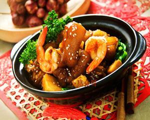 瑶柱金虾猪手煲