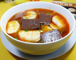 鸭血年糕汤