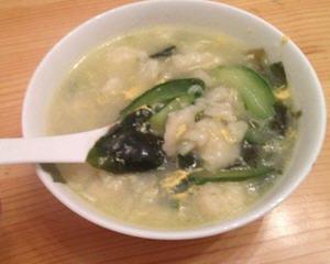螺旋藻黄瓜疙瘩汤