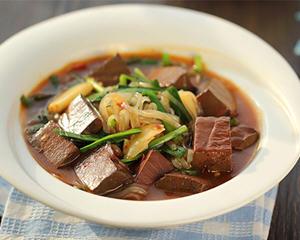 韭菜鸭血魔芋粉(壮阳,减肥)
