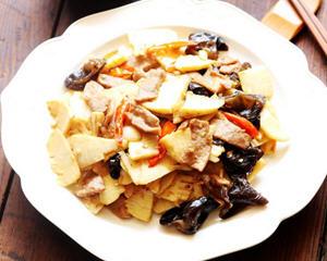 肉片炒冬笋