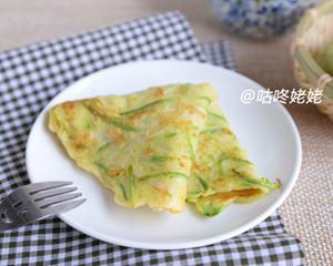 西葫芦鲍菇蛋饼