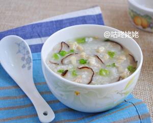 香菇燕麦鸡肉粥