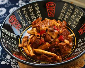 焖锅山笋烧牛肉