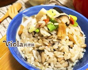 干贝竹笋炊饭