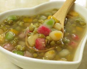 粉彩脆圆绿豆汤