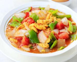洋葱西红柿炒鸡蛋新疆菜