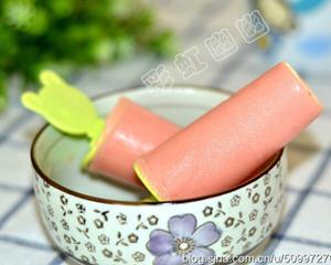 西瓜酸奶冰棒的做法_图解西瓜酸奶冰棒怎么做好吃