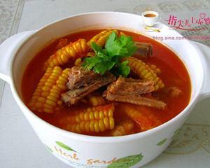 菜香玉米排骨汤