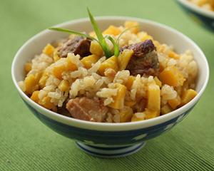 排骨红薯糯米饭