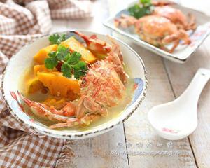 螃蟹南瓜汤