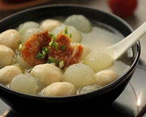 虾仁冬瓜鱼丸汤