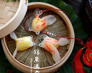八珍盛宴锦鱼满堂(奶黄金鱼果)年菜