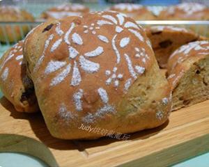 酒酿桂圆核桃面包(高梁酒、老面+汤种)